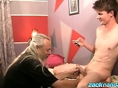 Aidan Young gets cock massage from JS