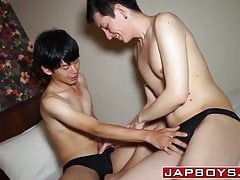 Asian twink Fuji asshole licked and penetrated passionately