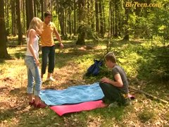 young bisex threesome orgy outdoor