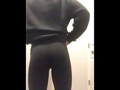 Boy in Moms thong shows of his bubble butt
