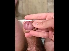 18yr old playing with cock and foreskin